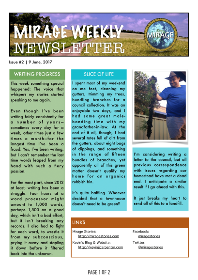Mirage Weekly Newsletter [2] Page 1 of 2